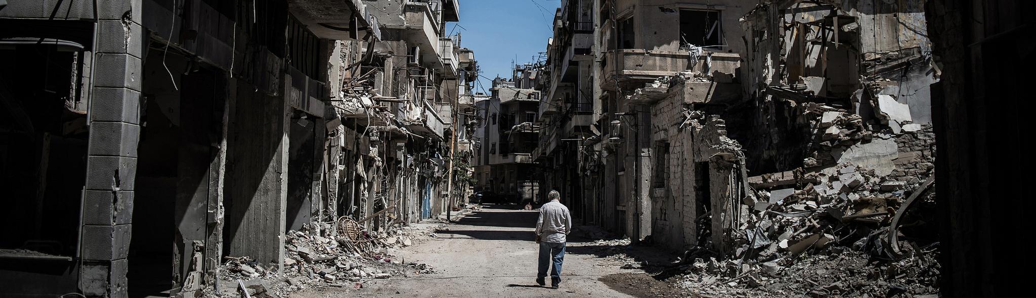 Destruction of Homs, SyriaBANNER